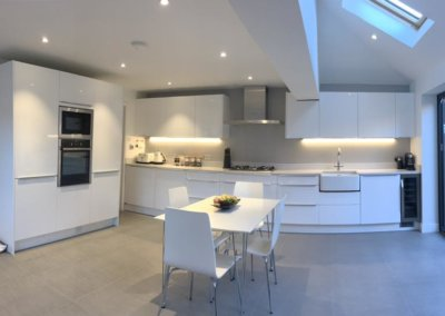Large open plan kitchen extension