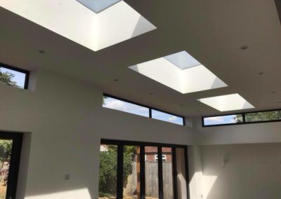 Extension with skylights