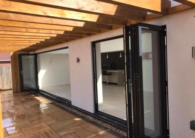 Open plan living with bi-fold doors